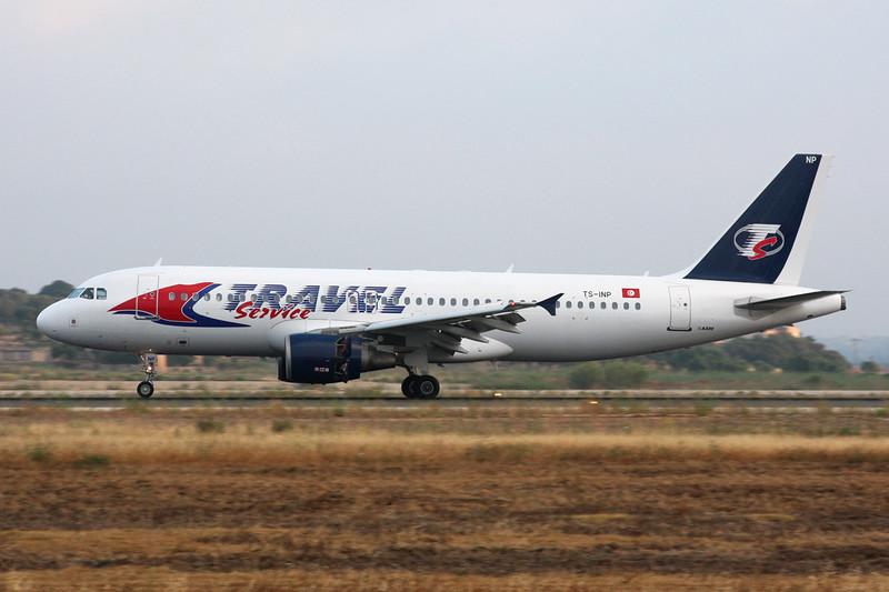 """TS-INP Airbus A320-214 """"Nouvelair Tunisie"""" c/n 1597 Palma/LEPA/PMI 15-06-16 """"Travel Service"""""""