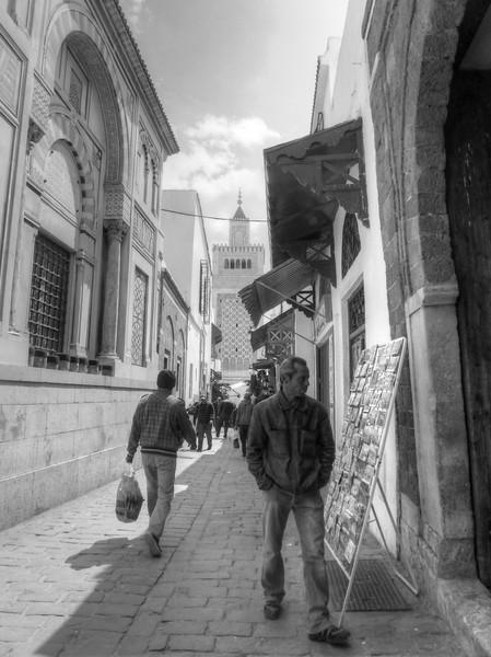 tunis media black and white