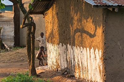 Evening shadows. Bundibugyo, western Uganda