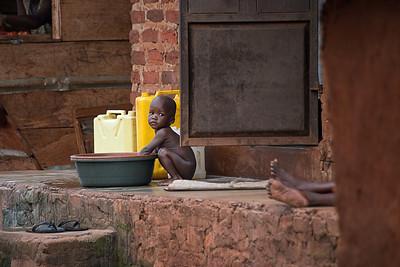 Morning bath. Mafubira, Uganda