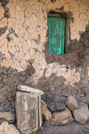 Window curtain. Kamwenge District, western Uganda