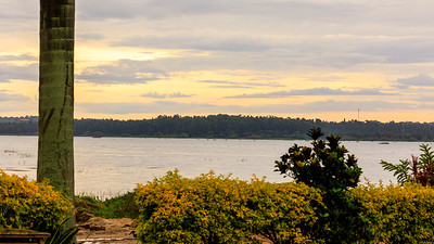 Sunrise on the shore of Lake Victoria, Uganda