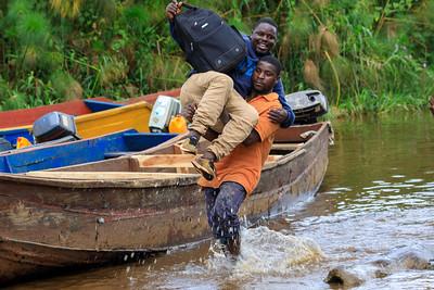 Landing place for boats, Mabamba Bay Wetlands, Uganda