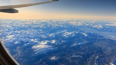 Blick von Sonthofen nach Westen über die Alpen