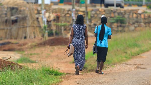 Straße in Masaka, Uganda