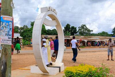 Äquator bei Kayawabe, Uganda