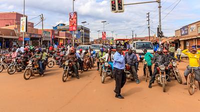 Motorradfahren in Uganda