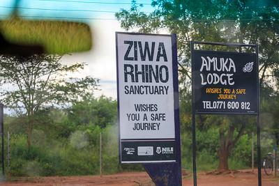 Eingang zum Ziwa Rhino Sanctuary, Uganda
