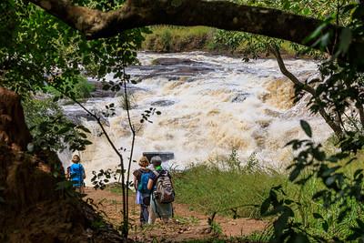 Die Murchison Falls des Victoria Nil