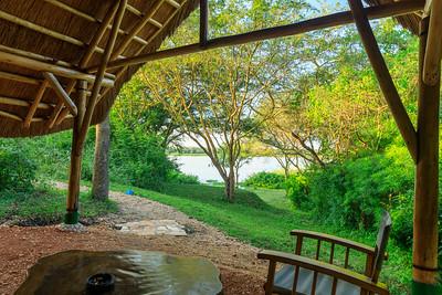 Ausblick aus meinem Zelthaus in der Murchison River Lodge