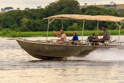 Bottsfahrt auf dem Victoria Nile, Murchison River Lodge