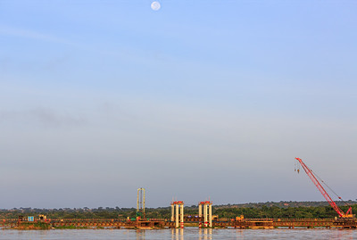 Neue Brücke über den Victoria Nile, Murchison Falls NP