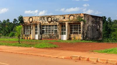 Verlassenes Gebäude, Hoima, Uganda