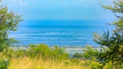 Blick über den Albert-See nach Osten zum Kongo
