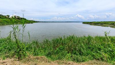 View over the Kazinga Channel to Lake George, QENP, Uganda