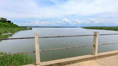 Kazinga Channel Bridge over the natural connection between Lake George and Lake Edward, QENP, Uganda