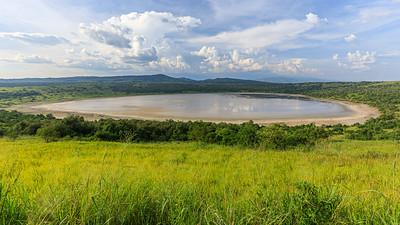 Explosion Crater, Nyamanyuka, zwischen Edward- und George-See im QENP, Uganda