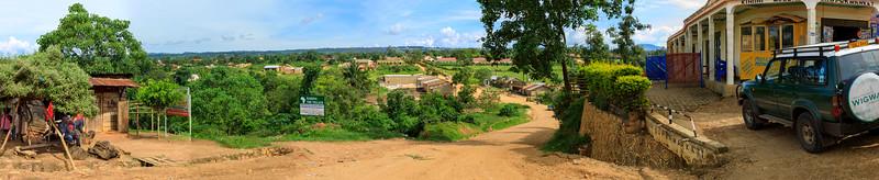 Blick nach Süden, Richtung Bwindi, Kihihi, Uganda