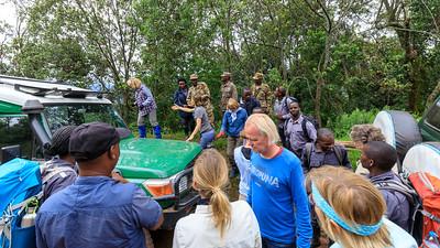 Entering the rain forest for Gorilla-Trekking, Bwindi Impenetrable NP, Uganda