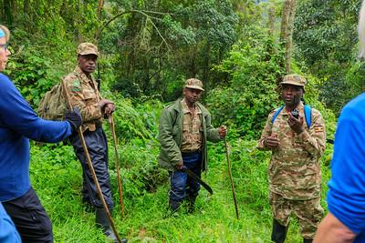 Guides and porters, Bwindi Impenetrable NP, Uganda