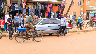 Biciyle taxis are still in use in Kabale, Uganda