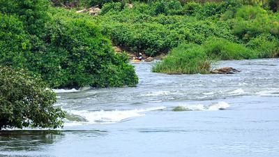 Kayaking at Busowoko Falls, Victoria Nile, Uganda