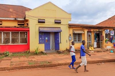 Building in Gabula Road, legacy of indian architecture in Jinja, Uganda
