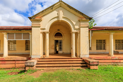 Civil registry office on Main Street, legacy of British architecture in Jinja, Uganda