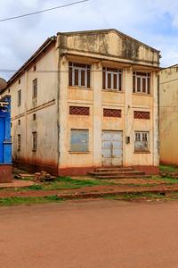 Building in Naranbhai Road, legacy of indian architecture in Jinja, Uganda