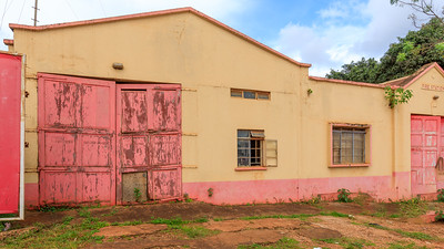 Fire station in Rippon Road, legacy of indian architecture in Jinja, Uganda