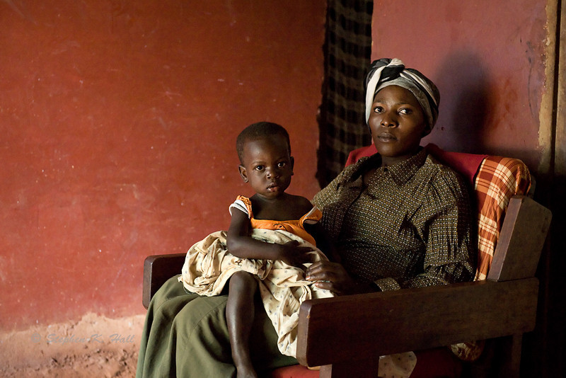 Mother and child. Jinja district, Uganda