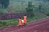 Sisters walking to school, morning