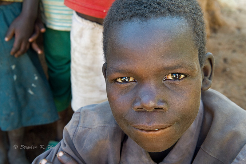 Young Acholi boy. Pabo IDP resettlement camp. Gulu district, northern Uganda