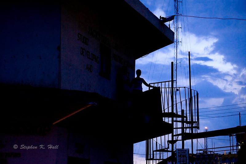 Gulu town, evening sky