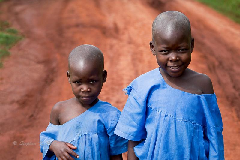Sisters. Bujagali, Uganda