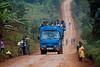 Morning commute. Road to Bujagali, Uganda