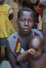 Acholi mother and child. Pabo IDP resettlement camp, Gulu district, northern Uganda