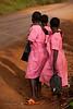 After school, roadside anticipation. Budondo, Uganda