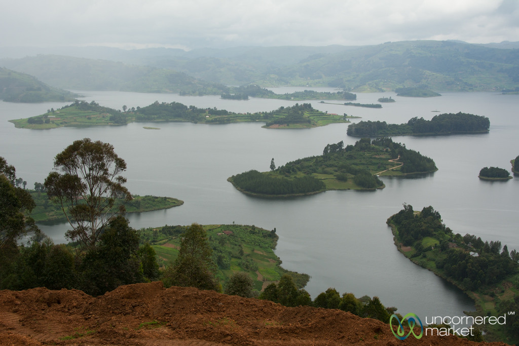 Lake Bunyonyi Islands from Above - Uganda