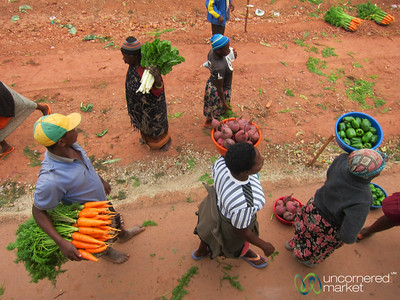 Fresh Veggies on the Road - Uganda