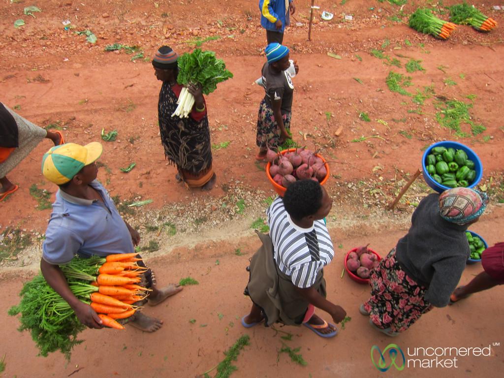 Fresh Veggies on the Road - Uganda