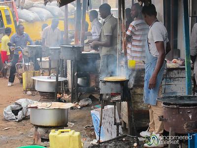 Making Chapatis at the Mengo Market - Kampala, Uganda