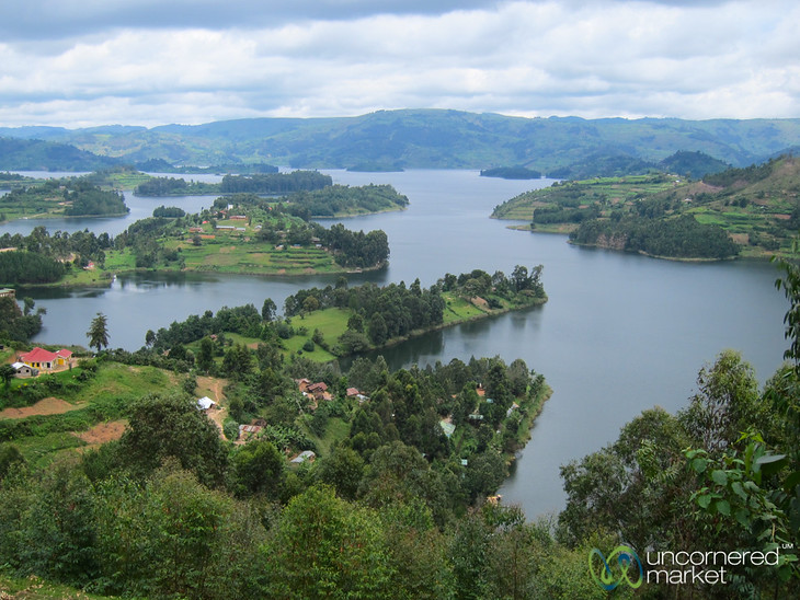 Looking Out Over Lake Bunyonyi, Uganda