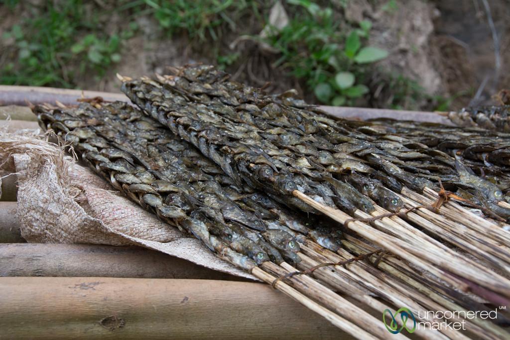 Dried Fish on a Stick - Lake Bunyonyi Market, Uganda