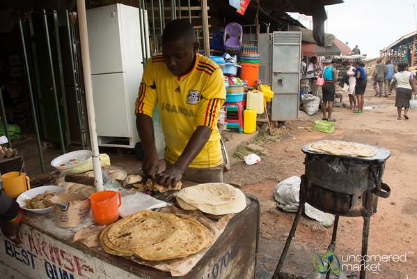 Chapati Master - Mengo Market, Kampala