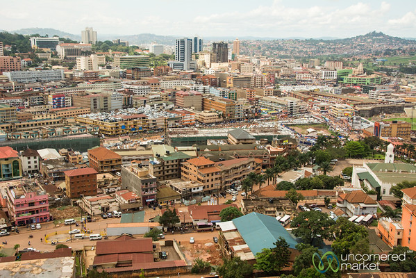 Kampala Skyline, Taken from Top of Minaret at Gaddafi Mosque - Kampala, Uganda