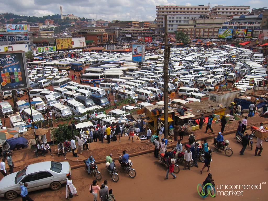 Kampala's Chaotic Bus Park - Uganda