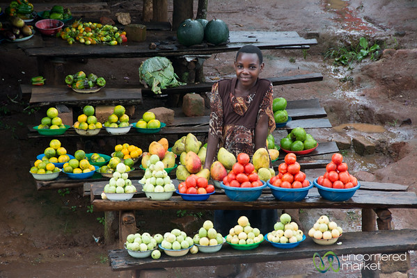 Roadside Fruit Stand Outside of Kampala, Uganda