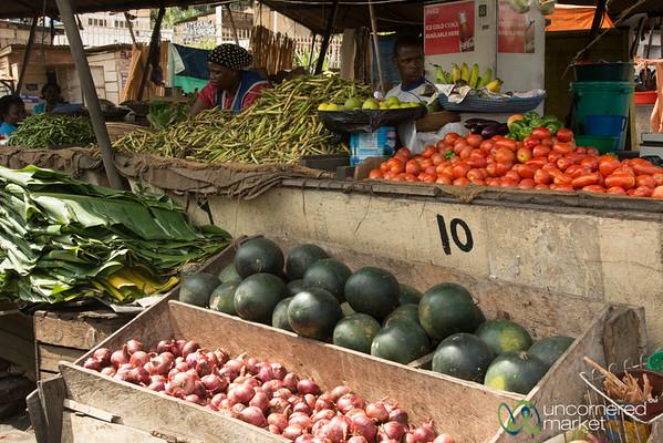 Mengo Market, Overflowing Veggies - Kampala, Uganda