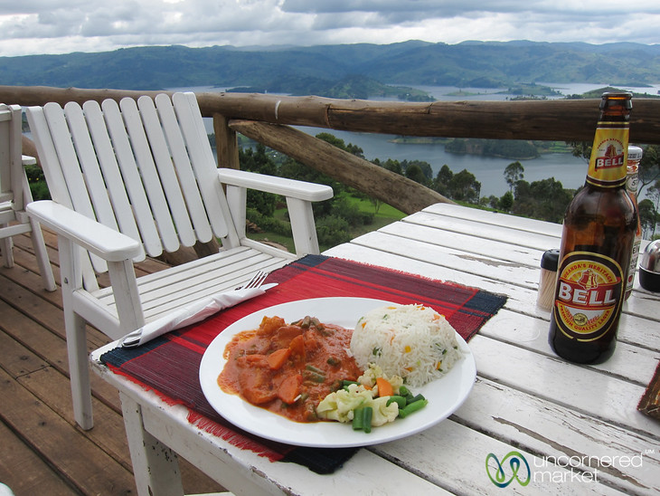 Crayfish Curry at Arcadia Cottages Restaurant - Lake Bunyonyi, Uganda